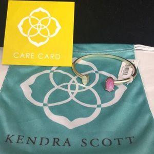 NWT. Kendra Scott Vada cuff bracelet. Pink stone.